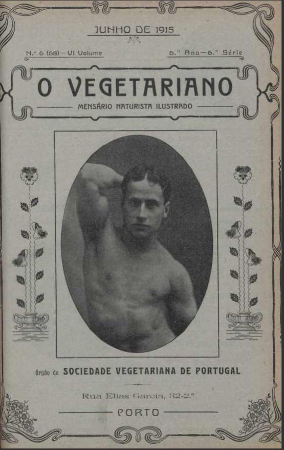 Pêros, Avelãs e Figos. Os vegetarianos utópicos de há 100 anos capa Revista 1915