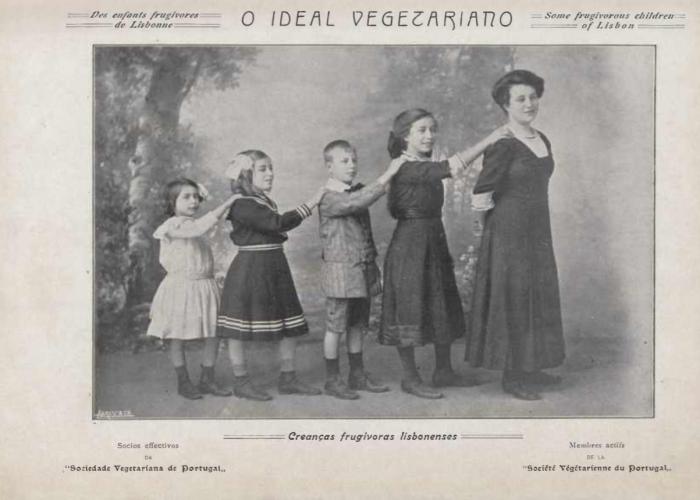 Pêros, Avelãs e Figos. Os vegetarianos utópicos de há 100 anos família-wiborg